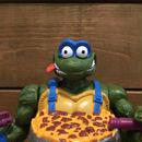 TURTLES Pizza Tossin' Leonardo Figure/タートルズ ピザトッシン・レオナルド フィギュア/180328-1