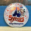 Disney TDL 5years Anniversary Button/ディズニー 東京ディズニーランド 5周年記念 缶バッジ/171013-13