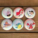THE LITTLE MERMAID Mermaid Lagoon Pin Button Set/リトルマーメイド マーメイドラグーン 缶バッジセット/170213-1