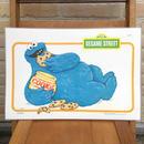 SESAME STREET Cookie Monster Place Mat/セサミストリート クッキーモンスター プレイスマット/170719-5