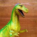 DINOSAUR Tyrannosaurus Rubber Toy/恐竜 ティラノサウルス ラバートイ/180210-3