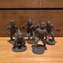 Horror Plastic Toy Monster Figure Set (Dark Gray)/ホラープラスチックトイ モンスターフィギュアセット (ダークグレー)/171206-12