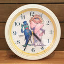 THE MUPPETS Kermit & Miss Piggy Wall Clock/マペッツ カーミット & ミス・ピギー 壁掛け時計/181123-4