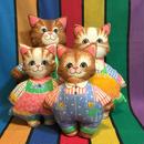 Cat Family Cloth Doll/猫の家族 クロスドール/161028-5