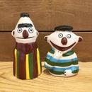 SESAME STREET Bootleg Ernie & Bert Ceramic Figurine/セサミストリート ブートレグ アーニー & バート セラミックフィギュアリン/190318-4
