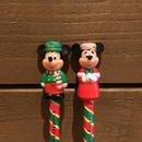 Disney Christmas Mickey&Minnie Figure Pencil Set/ディズニー クリスマス ミッキー&ミニー フィギュア鉛筆セット/171213-13