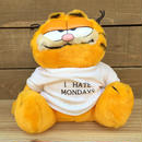 "GARFIELD ""I Hate Monday"" Plush Doll/ガーフィールド ""I Hate Monday"" ぬいぐるみ/170523-8"