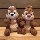 Disney Chip'n Dale Plush Doll Set/ディズニー チップとデール ぬいぐるみセット/180706-1