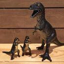 DINOSAUR Parent&Child Tyrannosaurus Rubber Toy/恐竜 ティラノサウルス親子 ラバートイ/180615-10
