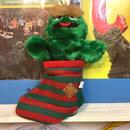 SESAME STREET Oscar Christmas Hand Puppet/セサミストリート オスカー クリスマス ハンドパペット/171029-6