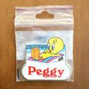 LOONEY TUNES Tweety Name Magnet [Peggy]/ルーニー・テューンズ トゥイーティー ネームマグネット [ペギー]/171207-3