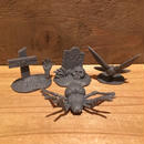 Horror Plastic Toy Cemetery Figure Set (Dark Gray)/ホラープラスチックトイ 墓場フィギュアセット (ダークグレー)/171206-10