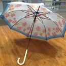 【製造終了】傘専門店  通販  東京  雨傘  ワンタッチ  ジャンプ  サビにくい  黒骨  旅傘  【サテン生地   ローズ】