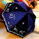 【2019年4月入荷】ドーム型 傘専門店 通販 東京 雨傘 人気レディース ワンタッチ ジャンプ サビにくい 黒骨 旅傘【ラメ Interior Black】