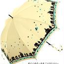 【風速25mまで耐える】傘専門店 通販 東京 雨傘 ワンタッチ ジャンプ グラスファイバー サビない 旅傘【耐風 夜空と猫ちゃん White】