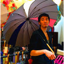36本限定生産 傘専門店 通販 東京 雨傘 オリジナル メンズ レディース グラスファイバー サビない 超軽量 旅傘【2018年6月お届け/グレー】