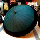 60㎝ 傘専門店 通販 東京 メンズ レディース 雨傘 サビにくい 旅傘【蛇の目 24本骨 深緑】