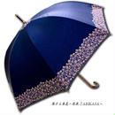 【2/3まで遮熱】 傘専門店 通販 東京 日傘 雨傘 晴雨兼用 ワンタッチ ジャンプ グラスファイバー 軽量 サビない 旅傘 【Blackコート  Gardenflower Blue】