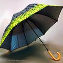 【-18~19℃】傘専門店 通販 東京 日傘 晴雨兼用 サビにくい 黒骨 遮光 遮熱 旅傘【ドームStyle Leaf Silhouette Black】