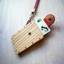 pass case ホワイトアッシュ 木と革のパスケース ICカード入れ