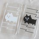 猫の小林さんのiPhoneカバー 5, 5s, SE, 6, 6s, 7 あります。 白と黒