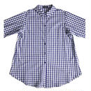 Cotton broad  blouse /  gingham(blue&white)
