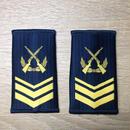 【三級軍士長】中国人民解放軍 空軍 07式夏制服用 筒型肩章 階級章