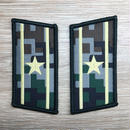 【少校】中国人民解放軍07式迷彩服用 林地迷彩柄 襟章 階級章