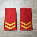 【上等兵】中国人民武装警察 07式夏制服用 筒型肩章 階級章