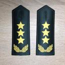 【上将】中国人民解放軍 陸軍 07式夏制服用 軟肩章 階級章