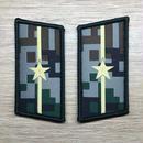 【少尉】中国人民解放軍07式迷彩服用 林地迷彩柄 襟章 階級章