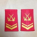 【上士】中国人民武装警察 07式夏制服用 筒型肩章 階級章