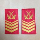 【一級軍士長】中国人民武装警察 07式夏制服用 筒型肩章 階級章