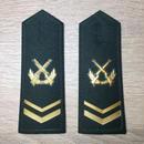 【上士】中国人民解放軍 陸軍 07式春秋&冬制服用 硬肩章 階級章