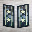 【中校】中国人民解放軍07式迷彩服用 林地迷彩柄 襟章 階級章