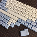 DSA PBT Keycap Set (White/Light Blue)