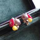 Vintageマロングラッセビジューイヤリング