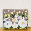 Jie Gantofta/ジィガントフタ/陶板/黄色の小花と大輪の白いお花柄