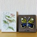 Jie Gantofta/ジィガントフタ/陶板/蝶ちょと小鳥さん/2枚セット
