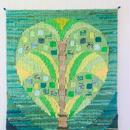 タペストリー/手織り/ハートのツリー