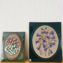 Jie Gantofta/ジィガントフタ/陶板/カンパニュラの花、リネア又はマーガレットのお花/2枚セット