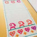 クリスマス刺繍/センタークロス/リネン
