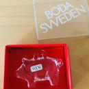 Boda/ボーダ/ガラスのオーナメント/Gris/ブタさん/箱入り新品