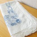 ヴィンテージテーブルクロス/刺繍レース/リネン、綿混