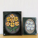 Jie Gantofta/ジィ ガントフタ/陶板/マーガレットと黄色のお花柄/2枚セット