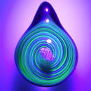 [uvSO-02] uv spiral opal pendant