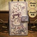 iPhone X , 6~8『致死量のキャンディー』手帳型ケース