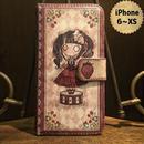 iPhone 6~XS『首吊り苺』手帳型ケース