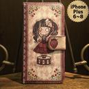 iPhone Plus 6~8『首吊り苺』手帳型ケース