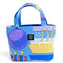 mini tote BAG 「ランプフラワー」 blue